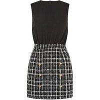 AX Paris Black 2 in 1 Tweed Skirt Dress New Look