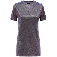 Purple Iridescent Glitter Tunic Top New Look