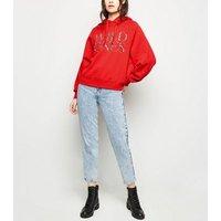 red-wild-ones-zebra-print-slogan-hoodie-new-look