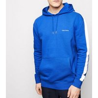 Men's Bright Blue Global Sports Embroidered Slogan Hoodie New Look