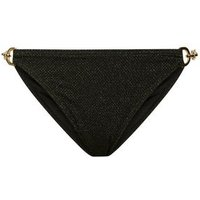 Black Glitter Chain Bikini Bottoms New Look