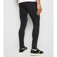 Black Washed Skinny Stretch Jeans New Look