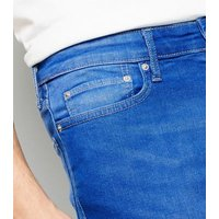 Bright Blue Mid Wash Skinny Stretch Jeans New Look