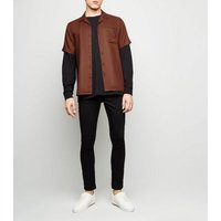 Brown Piped Short Sleeve Shirt New Look
