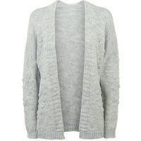 Cameo Rose Pale Grey Heart Bobble Cardigan New Look