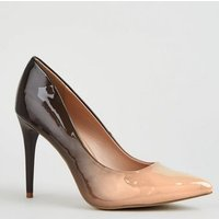 Nude and Black Ombre Pointed Courts New Look
