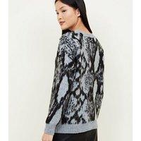 light-grey-brushed-snake-print-jumper-new-look