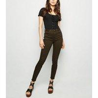 Khaki Utility Pocket Skinny Jenna Jeans New Look