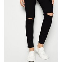 Maternity Black Ripped Over Bump Jeggings New Look