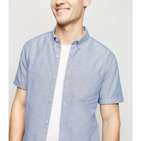 Pale Blue Short Sleeve Cotton Oxford Shirt New Look
