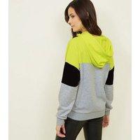 yellow-neon-colour-block-hoodie-new-look