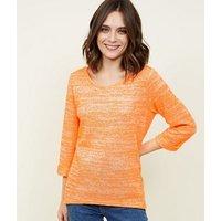 bright-orange-neon-nep-fine-knit-top-new-look