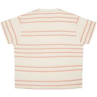 Plus Size Mid Pink Stripe Short Sleeve T-Shirt New Look