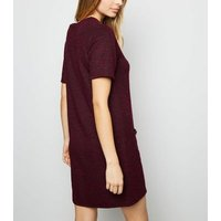 Burgundy-Boucl-Double-Pocket-Tunic-Dress-New-Look