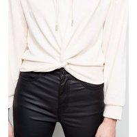 pale-pink-twist-front-hoodie-new-look