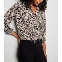 Tall Purple Leopard Print Shirt New Look