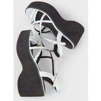 Multicoloured Iridescent Strappy Flatform Sandals New Look