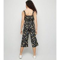 Girls Multicoloured Floral Square Neck Jumpsuit New Look