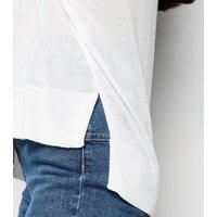 White Fine Knit Jumper New Look