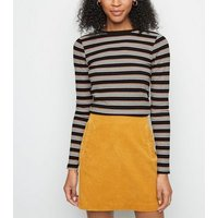 Multicoloured Stripe Ribbed Long Sleeve Top New Look