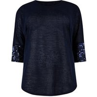 blue-vanilla-curves-navy-sequin-cuff-batwing-top-new-look
