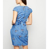 Blue Vanilla Blue Wrap Front Tulip Dress New Look