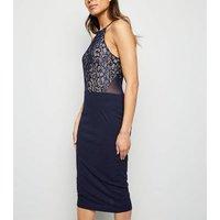 AX Paris Blue 2 in 1 Lace Midi Dress New Look