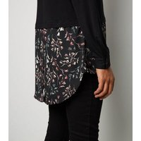 apricot-black-floral-contrast-hem-shirt-new-look