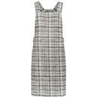 Khaki Textured Check Pinafore Dress New Look