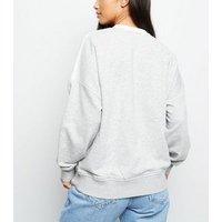 Petite Lilac Chevron Colour Block Sweatshirt New Look