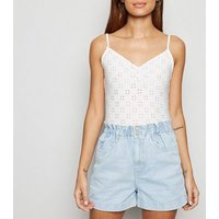 Pale Blue High Waist Denim Shorts New Look