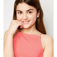 Girls Coral High Neck Cami New Look