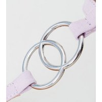 Lilac Ring Strap Flat Sandals New Look