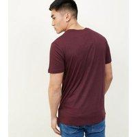 2 Pack Burgundy T-Shirt New Look