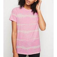 Pink Tie Dye Short Sleeve T-Shirt New Look