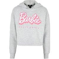 Girls Grey Barbie Slogan Hoodie New Look