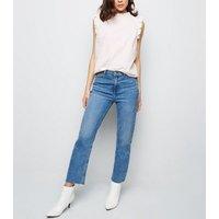 Pink Gingham Frill Trim Sleeveless Shirt New Look