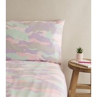 Lilac Camo Cotton Double Duvet Set New Look