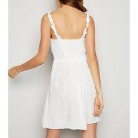 White Frill Trim Mini Dress New Look