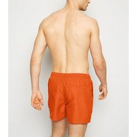 Men's Orange Embroidered Circle Swim Shorts New Look