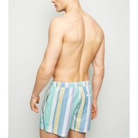 Lilac Vertical Stripe Swim Shorts New Look