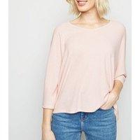 Pale Pink V Neck Fine Knit Top New Look