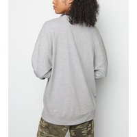 Tall Grey Atlanta Print Sweatshirt New Look