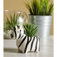 Black Zebra Print Planter New Look