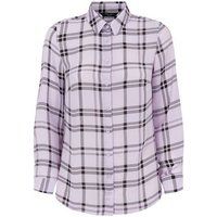 Petite Purple Check Shirt New Look