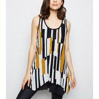 apricot-white-geometric-sleeveless-top-new-look