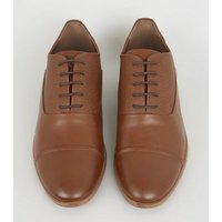 Tan Leather-Look Oxford Shoes New Look
