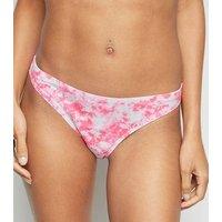 Pink Tie Dye Hipster Bikini Bottoms New Look