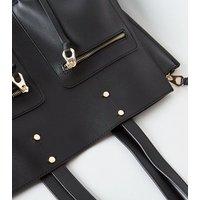 Black Laptop Shopper Bag New Look Vegan