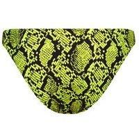 Yellow Neon Snake Print Bikini Bottoms New Look